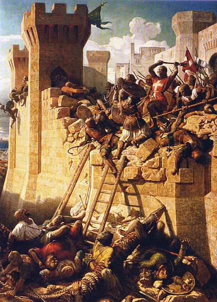 Thumbnail image for The Siege of Acre - The Hospitalier Master Mathieu de Clermont defending the walls in 1291.jpg