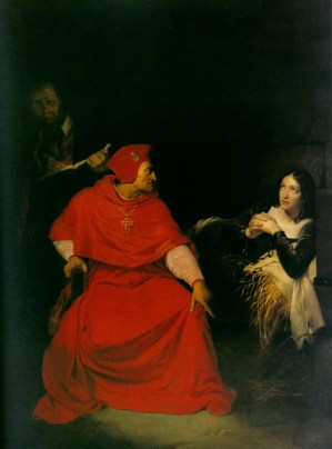 Joan of Arc interrogated in prison cell by Cardinal of Winchester - by Hip.jpg