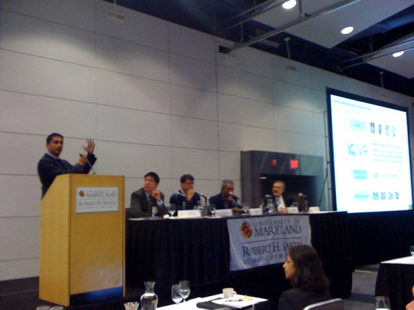 Premal Shah speaks on the Web 2.0 panel at the UMD CIO Forum
