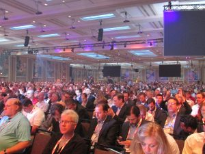 Thousands packed the ballroom at the Dolphin Hotel for the keynote speech at the recent Gartner Symposium/ITxpo.