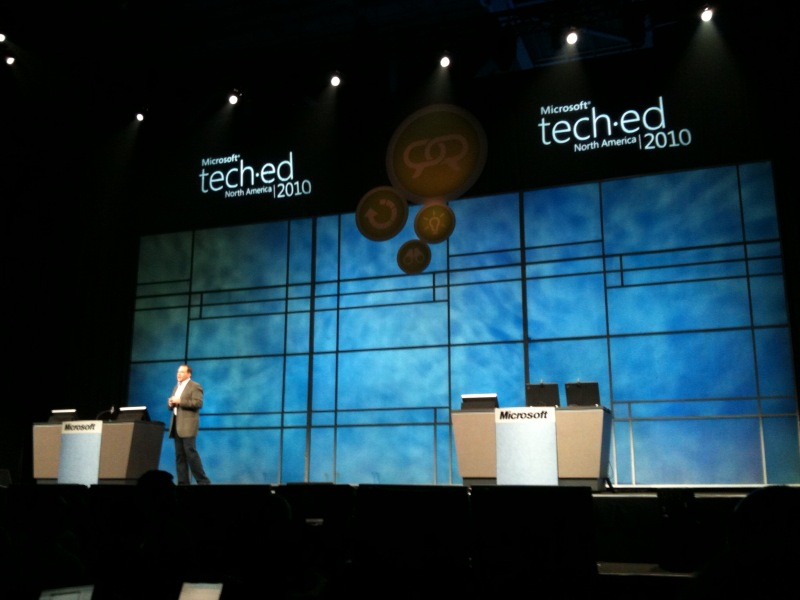 Microsoft's Bob Muglia delivers the opening keynote at TechEd 2010.