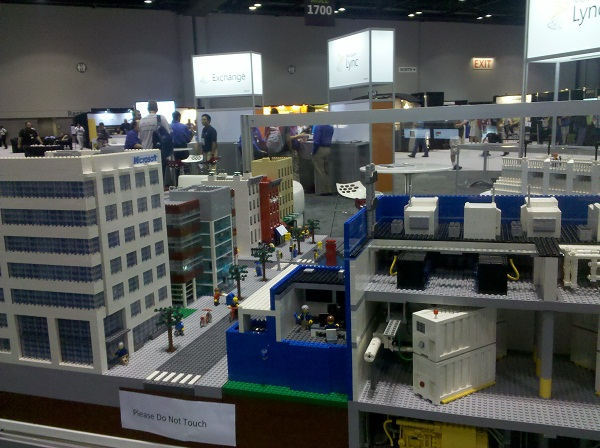 A Lego recreation at TechEd 2012