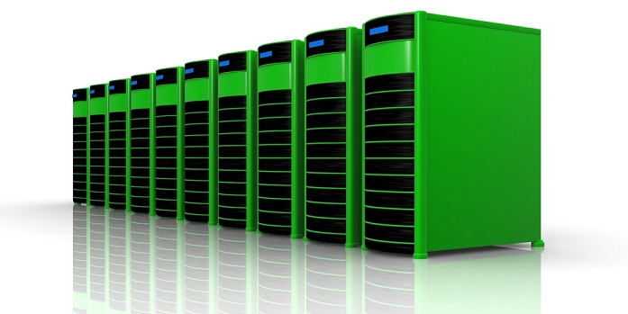 Image of green servers