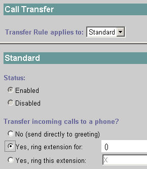Call Transfer Settings