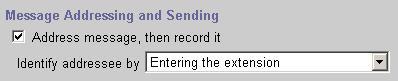 Identify Addressee Setting