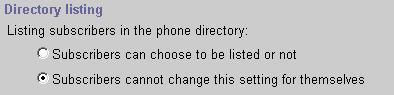 Directory Listing Setting