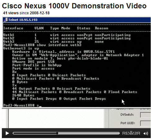 Cisco Nexus 1000-V Video