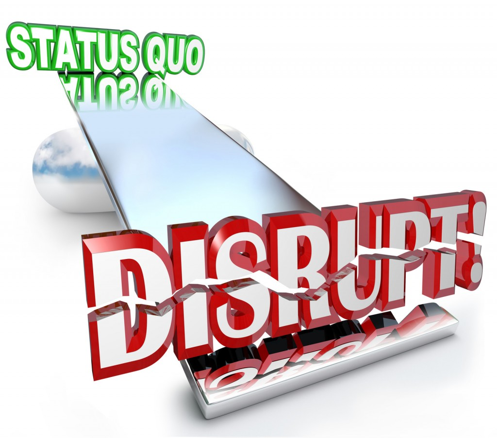 Disruption and status quo on a see-saw.