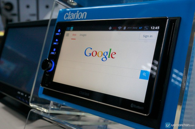 Clarion Android in-dash computer.