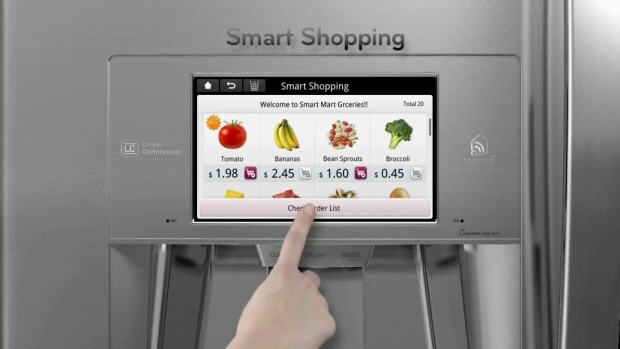Smart refrigerator with shopping app