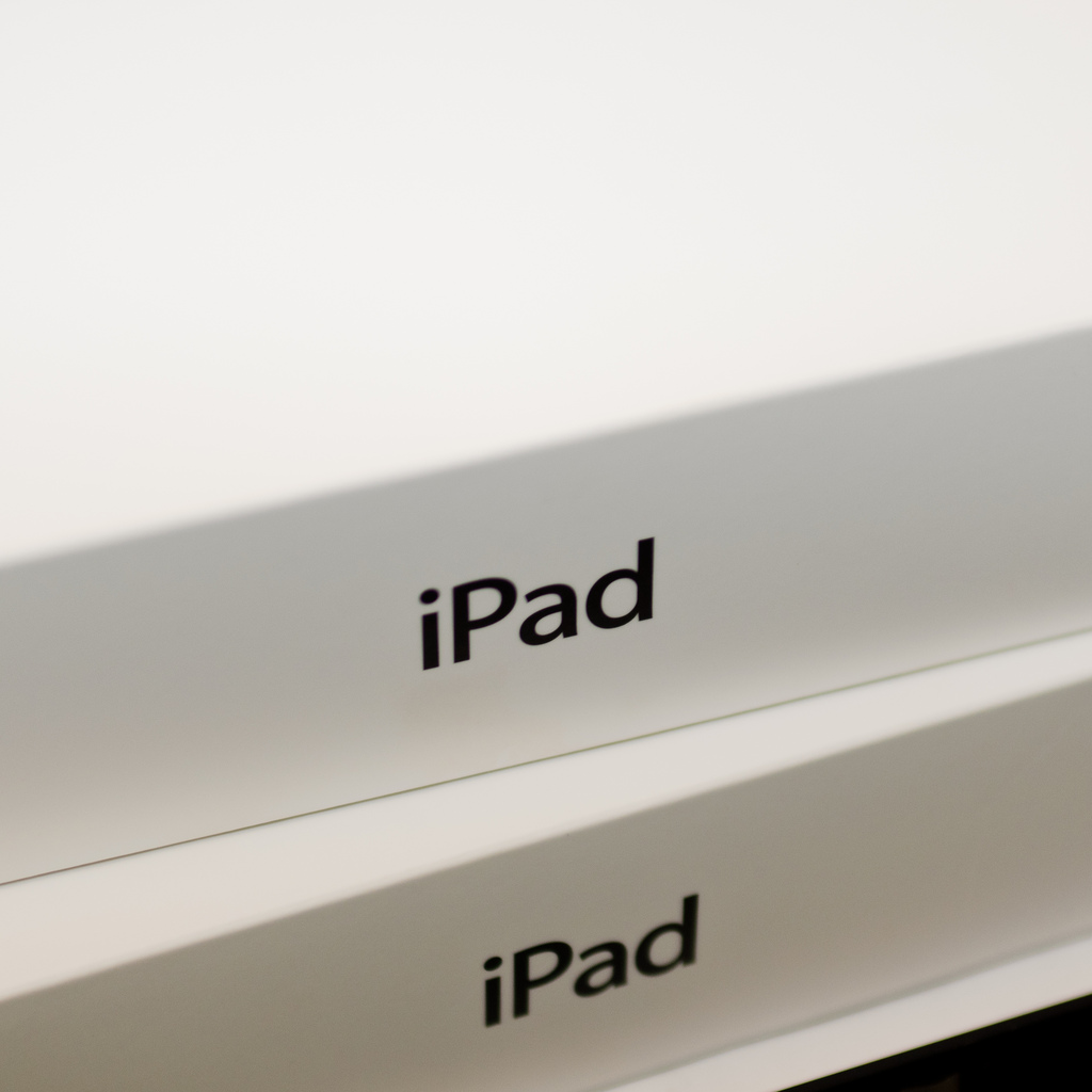 two stacked iPad boxes.