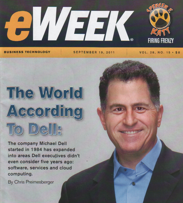 Dell's move into servers and services makes cover of eWeek
