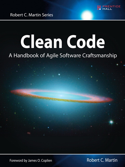"An image of Robert C. Martin's ""Clean Code"""