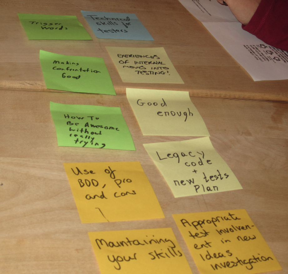 Notes from Lean Coffee