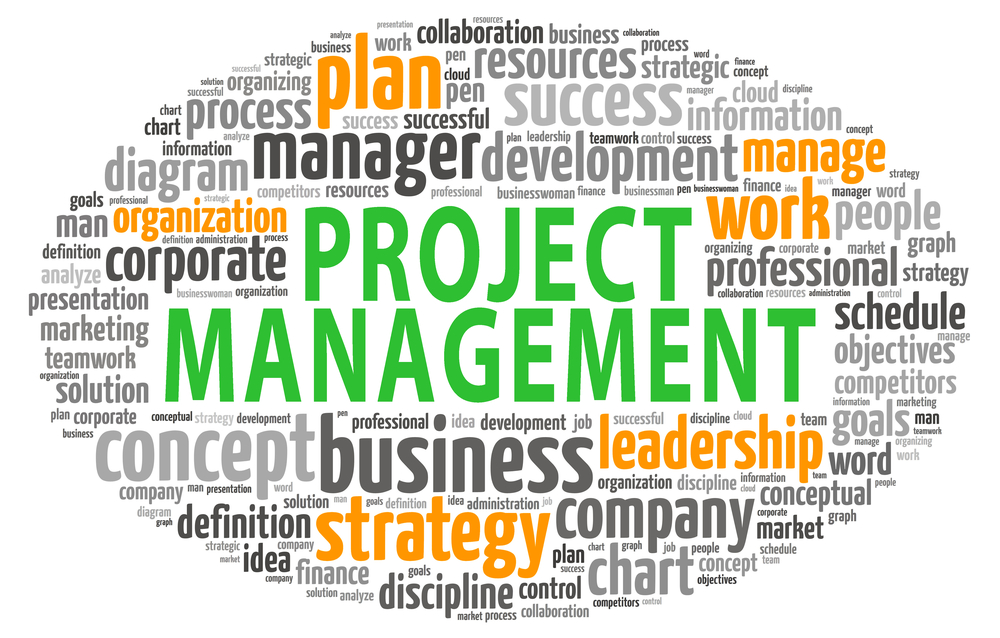 project management tag cloud