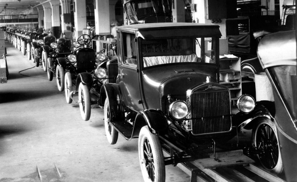 Model T Ford Assembly Line