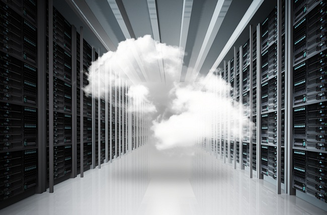 Image of cloud in data center