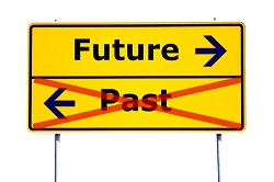 Conceptual image of Future and Past signs