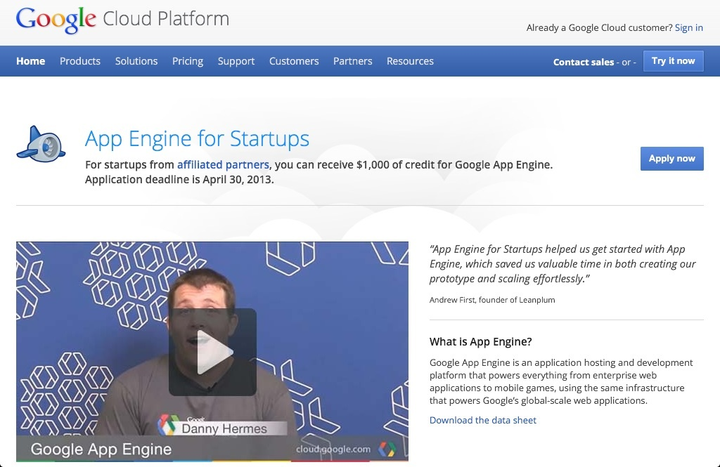 App Engine for Startups