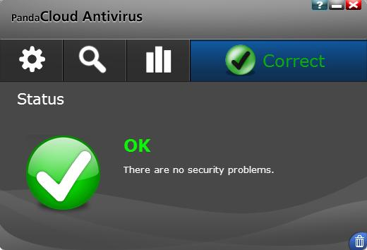 Panda Cloud Antivirus UI