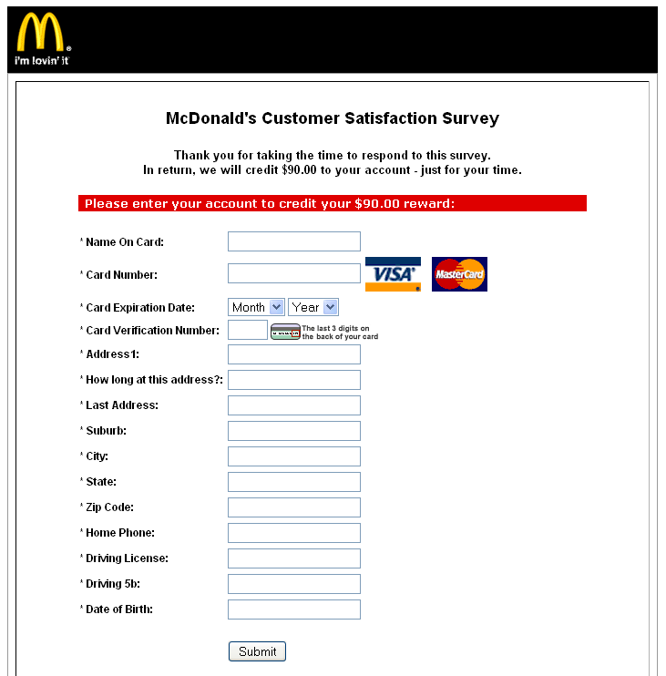 Questionnaire for mcd