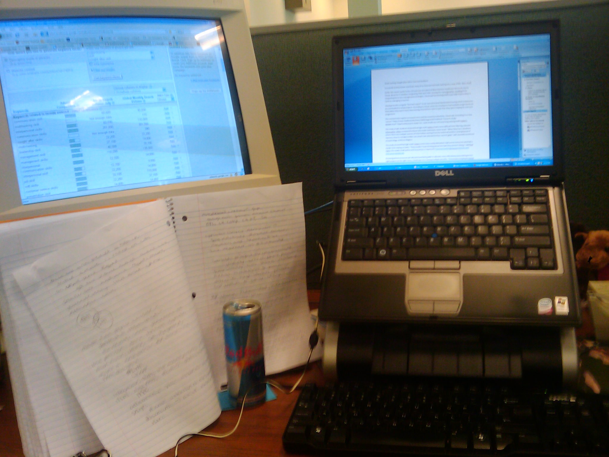 The desk of a multitasker