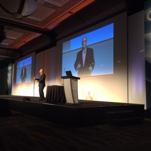 Communications speaker Mark Jeffries speaks at the Gartner Catalyst Conference in San Diego on Aug. 11.