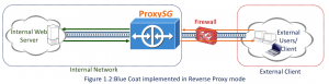 Figure 1.2 Blue Coat in Reverse Proxy Mode