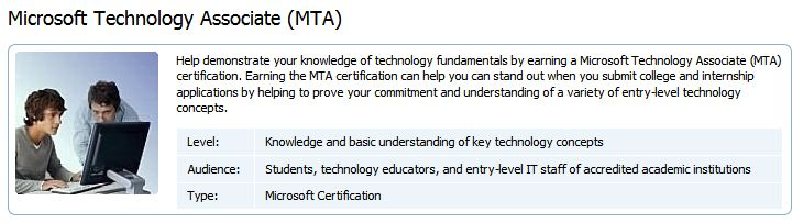 Here is the MTA blurb from its MS Web pages
