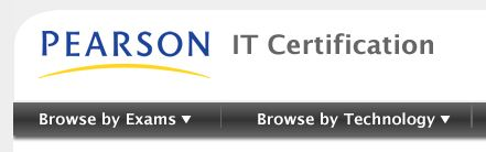 Masthead from PearsonITCertification.com
