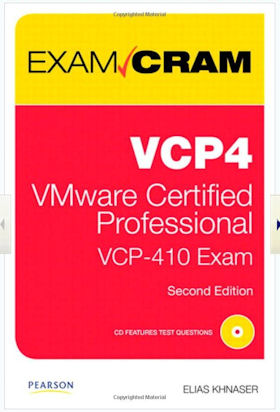 Amazon's cover snapshot for the VCP-410 Exam Cram