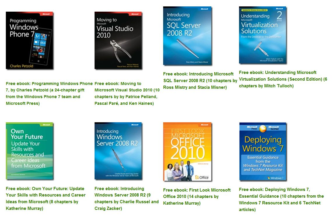 A veritable tableaux of free e-books