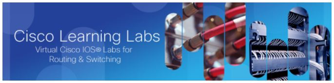 Web page banner for Cisco Learning Labs stuff