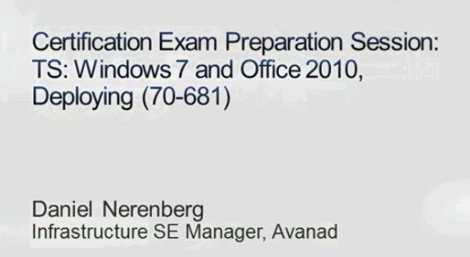 Opening slide from examprep session