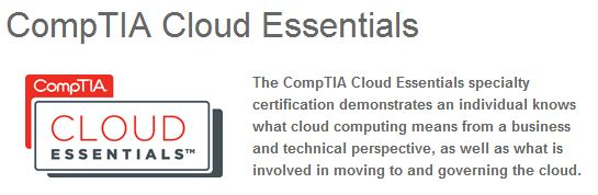 Title blurb and logo for Cloud Essentials