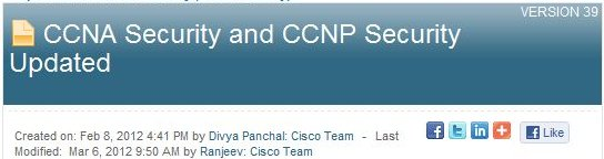 Cisco Press Release Announces Updated Security Coverage for CCNA, CCNP
