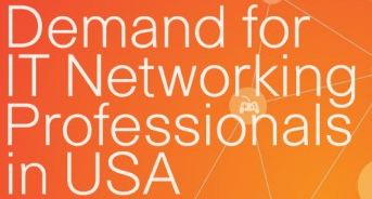 Infographic title block puts words in front of a network diagram.