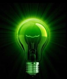 An international symbol for green IT and sustainable energy consumption.