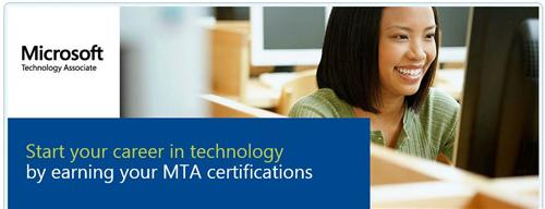 Header from the MS Learning MTA home page