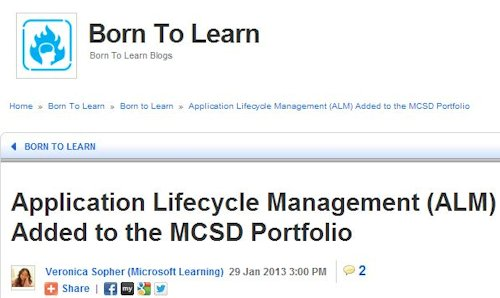 Microsoft adds a lifecycle management option for the MCSD.