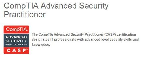 The CompTIA Advanced Security Practitioner certs takes up equal coverage with the CISSP.
