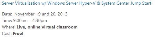 Free training on Windows Server 2012 R2, Hyper-V, and System Center 2012