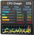 CPU consumption usually runs about 25% for this program