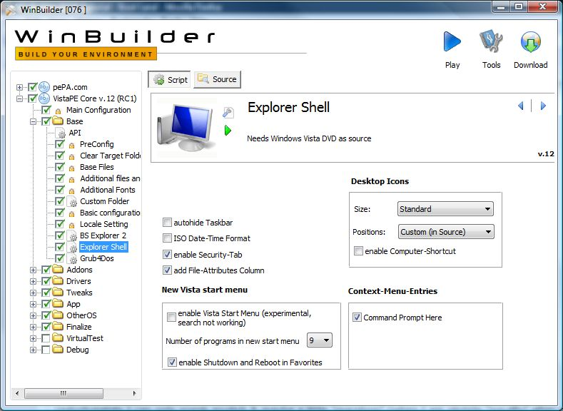 The VistaPE scripts in WinBuilder make adding Explorer a piece of cake
