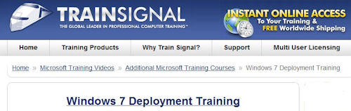 Train Signal offers self-paced video training for 70-681