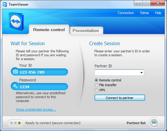 TeamViewer is easy to install and use, and free for non-commercial use