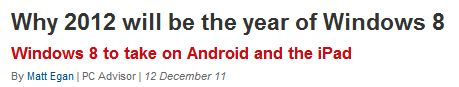 "Headline for ""Year of Win8"" story"