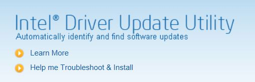 The Intel Driver Update Utility is handy but not always completely current