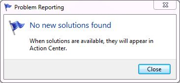 Seems like problem reporting hardly ever produces usable fixes
