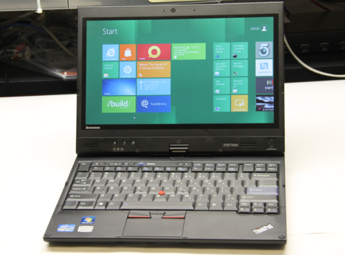 Windows 8 running on Lenovo X220 Tablet